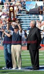 Villanova Head Coach Andy Talley with the 2009 FCS Championship Trophy